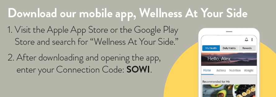 Wellness At Your Side mobile app