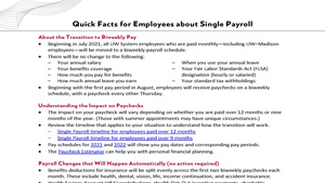 Thumbnail: Quick Facts for Employees about Single Payroll